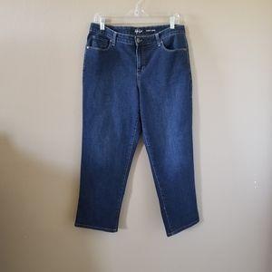 Macy's Style & Co Curvy Capri Blue Jeans